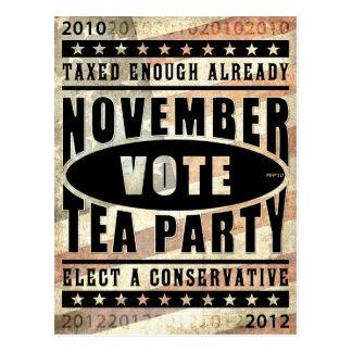 November Tea Party Postcard