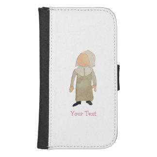 November Thanksgiving Pilgrim Custom Name Toddler Galaxy S4 Wallet Cases
