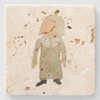 November Thanksgiving Pilgrim Puritan Toddler Girl Stone Beverage Coaster