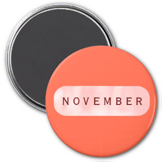 November Tomato Red Large Round Magnet by Janz