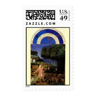 November - Tres Riches Heures du Duc de Berry Stamp