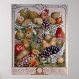November 'Twelve Months of Fruits' Poster