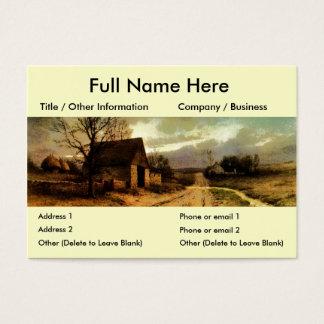 November Twilight  (1912) Barn and Fields Bookmark Business Card