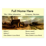 November Twilight  (1912) Barn and Fields Bookmark Business Card Templates