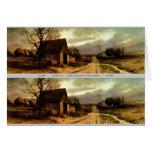 November Twilight  (1912) Barn and Fields Bookmark Card