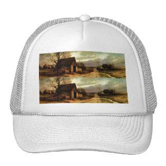 November Twilight 1912 Barn and Fields Bookmark Hats