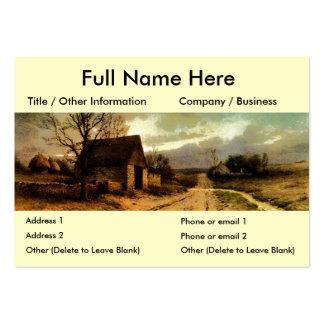November Twilight  (1912) Barn and Fields Bookmark Large Business Card