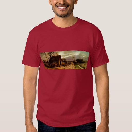 November Twilight  (1912) Barn and Fields Bookmark Tees
