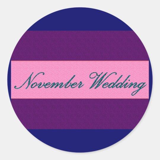 """November Wedding"" Elegant Sticker - Customized"