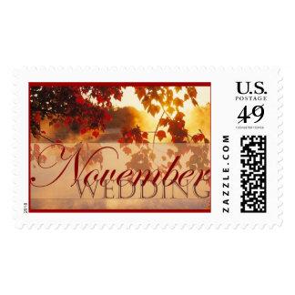 November Wedding I Postage Stamp
