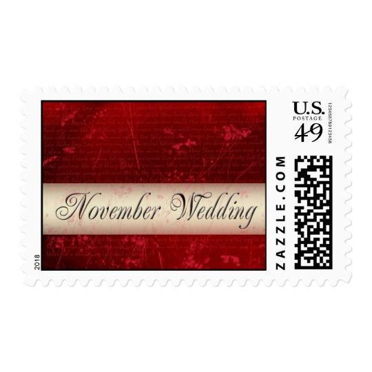 November wedding love stamp