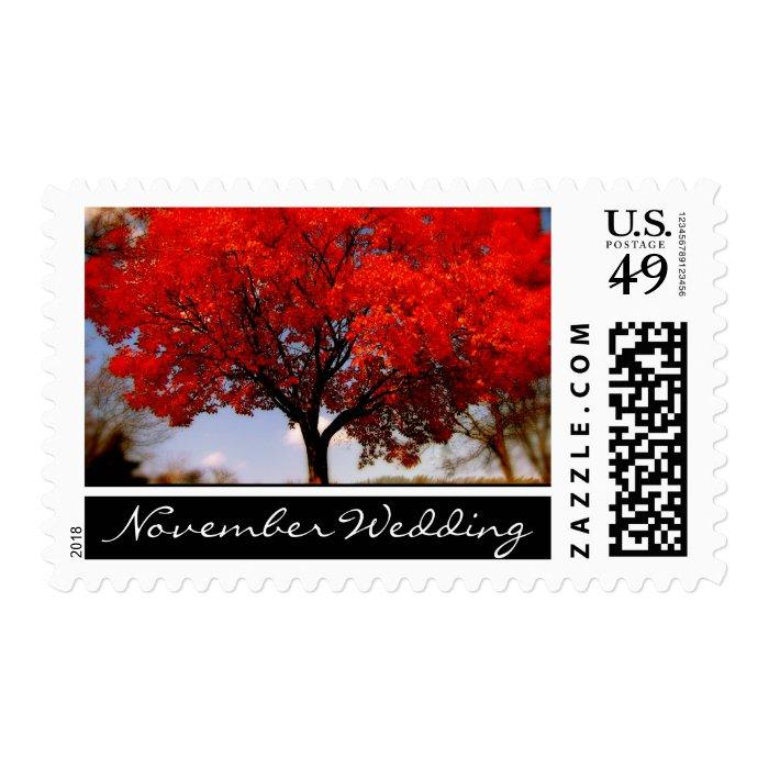 November Wedding Stamp