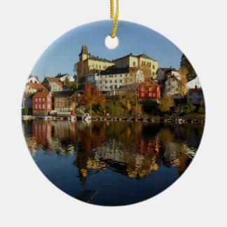 Novemberday in Arendal Ceramic Ornament
