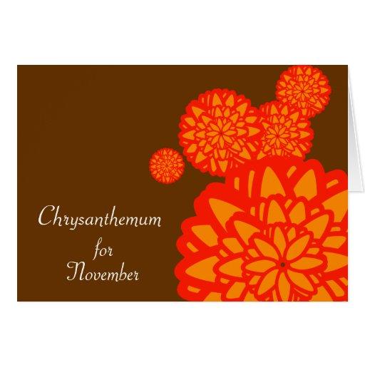 November's Birth Flower-Customize Greeting Cards