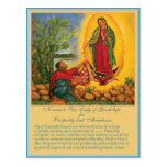Novena a nuestra señora de Guadalupe Postal