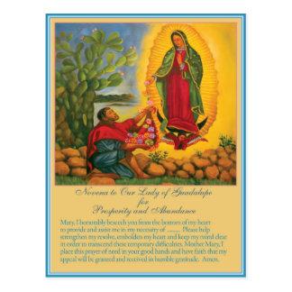 Novena a nuestra señora de Guadalupe Postales