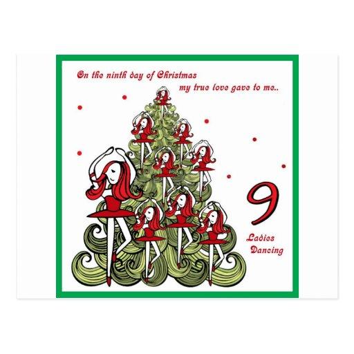 Noveno día de navidad postales