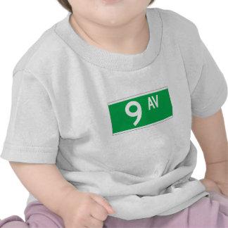 Noveno sistema de pesos americano, placa de calle camisetas