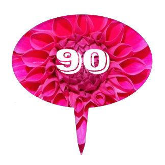 Noventa años de cumpleaños del flor decoraciones para tartas