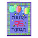 Noventa-quinta tarjeta de cumpleaños