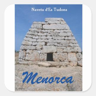 Noveta d'ES Tudons, Menorca Square Sticker