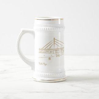 Novi Sad Vojvodina Nostalgic Elegant Sketch Classy Beer Stein