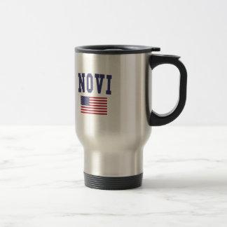 Novi US Flag Travel Mug
