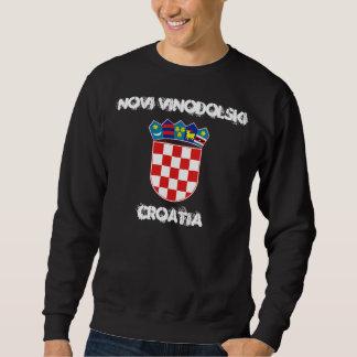 Novi Vinodolski, Croatia with coat of arms Sweatshirt
