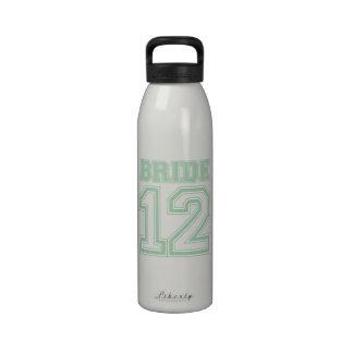Novia 12 (verde) del equipo universitario botellas de beber