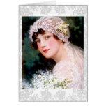 Novia 1915 tarjeta de felicitación