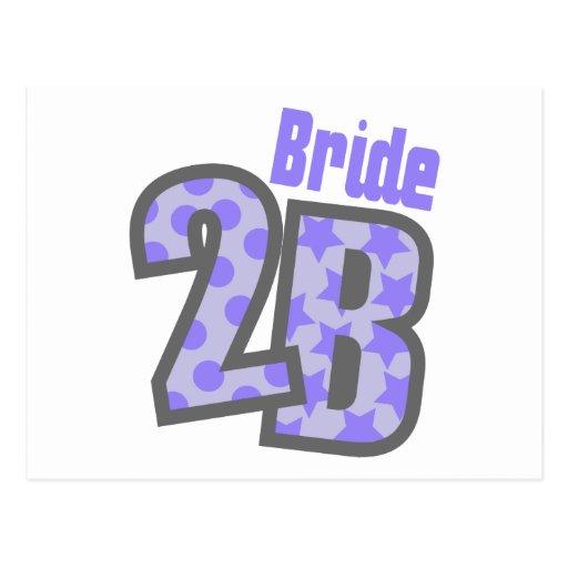 Novia 2B (púrpura) Postal