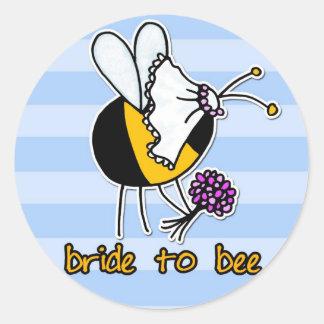 novia a la abeja pegatinas redondas