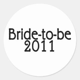 Novia a ser 2011 etiquetas redondas
