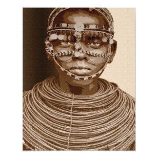 Novia africana fotografía