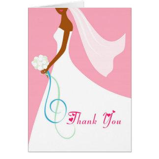 Novia afroamericana - gracias las tarjetas