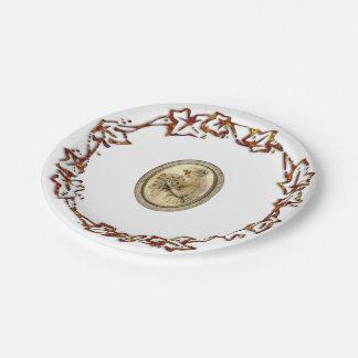 Novia antigua plato de papel de 7 pulgadas