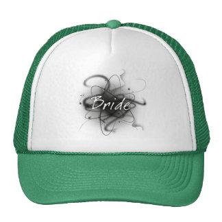 Novia atómica retra - negro y blanco gorras