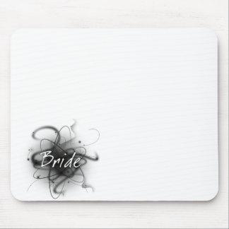 Novia atómica retra - negro y blanco tapetes de ratones