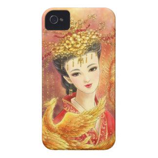 Novia china con el caso del iPhone 4/4S de Phoenix iPhone 4 Carcasa