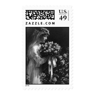 Novia con los rosas que casan los sellos - DesignV