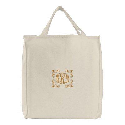 Novia - - con sus iniciales - - modificadas para r bolsas de mano bordadas