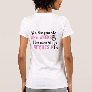 Novia costera de los tirones del campo petrolífero camiseta