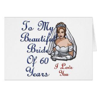 Novia de 60 años tarjeta de felicitación