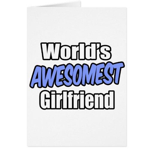 Novia de Awesomest del mundo Tarjeta