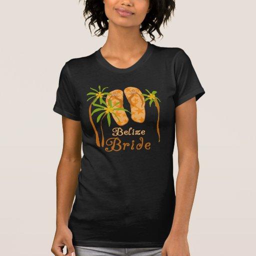 Novia de Belice de los flips-flopes Camiseta