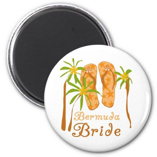 Novia de Bermudas de los flips-flopes Imán Redondo 5 Cm