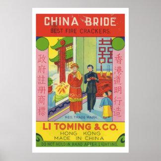 Novia de China (petardo chino del vintage) Impresiones