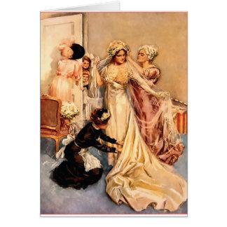 Novia de Fisher Girl~Victorian del vintage a ser Tarjeta De Felicitación