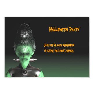 Novia de Frankenstein - la invitación del fiesta