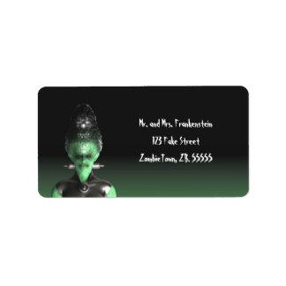 Novia de Frankenstein - las etiquetas de Halloween Etiquetas De Dirección